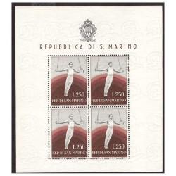 SAN MARINO 1954 - FOGLIETTO...