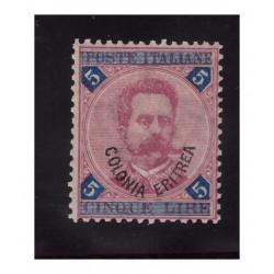 ERITREA  1893  - LIRE  5...